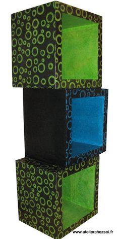 Meuble : Etagère en Carton - Créer ses meubles en carton