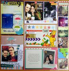 Week 9 Project Life 2013 by Olya Schmidt, via Behance