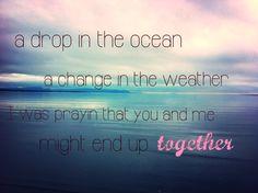 A drop in the ocean ❤