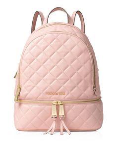 Michael Michael Kors Medium Rhea Quilted Zip Backpack