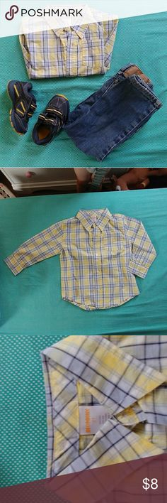 Spring button up 2t This cute button up is perfect for any spring time outfit! Gymboree Shirts & Tops Button Down Shirts