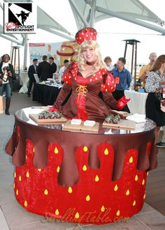 Strawberry strolling table by San Diego Spotlight Entertainment