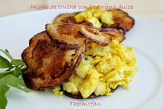 THERMOFAN: Migas de trucha con berenjena dulce ( T)
