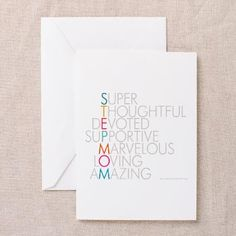 Super Stepmom Greeting Cards My Fairy Stepmother Gifts
