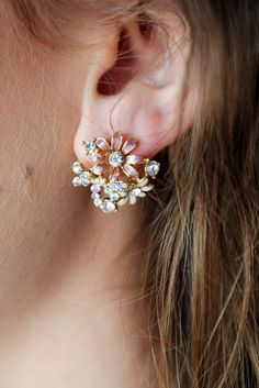 46c8b4b525d41 Talullah Tu Enamel Crystal Daisy Stud Earrings Anna Saccone Joly - The  Style Diet