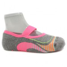Meia Puket para Pilates 8529 (34 a 39) Cinza Escuro/rosa | Zariff