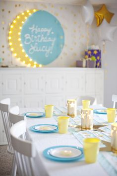 Don't care if this is for girls. Miles will have this bday party! > Moon and Stars Birthday Party