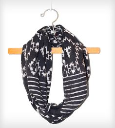 Charcoal Aztec Print Scarf.
