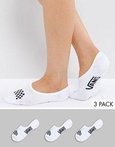 33f7a043b8a7d9 Vans 3 Pack White No Show Socks 23.69