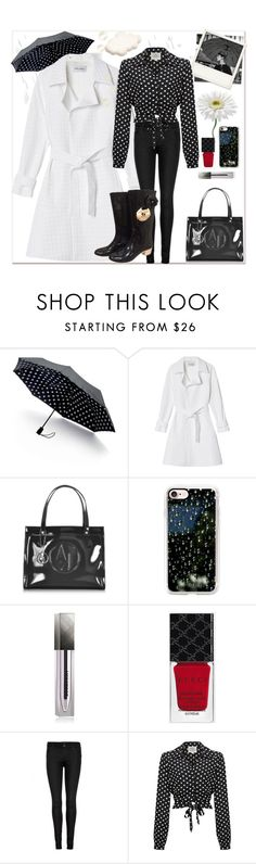 """""""#Spring14 #rainday"""" by paulette833 ❤ liked on Polyvore featuring Polaroid, Saks Fifth Avenue Collection, Walk of Shame, Armani Jeans, Casetify, Burberry, Gucci, J Brand and Chanel"""