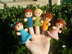 Little Finger Friends Finger Puppets pattern by Abigail Gonzalez
