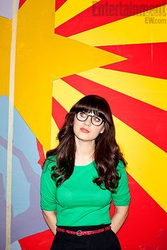 """Jess Day (Zooey Deschanel): """"'I'm sorry I don't talk like Murphy Brown, and I hate your pantsuit. I wish it had ribbons on it or something to make it just slightly cuter. And that doesn't mean I'm not smart and tough and strong.''"""