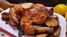 Pollo asado con limón: El pollo es uno de las carnes que más suelo cocinar en casa. Contiene pocas grasas, su carne es más saludable que el resto de las carnes, se cocina muy fácil y siempre deja grandes resultados.   Además, con las obras puedes hacer croquetas, un arroz caldoso, cocinarlas con pastas, ensaladas, pizzas o hacer bocadillos.