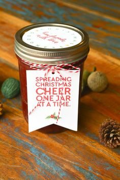 Spread Christmas Cheer Gift Tags Spreading Christmas Cheer One Jar At A Time Christmas Jam, Neighbor Christmas Gifts, Free Christmas Printables, Neighbor Gifts, Christmas Gift Tags, Homemade Christmas, Christmas Ideas, Holiday Ideas, Holiday Gifts