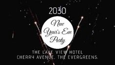 Party night sparklers video template new years eve party in black and white