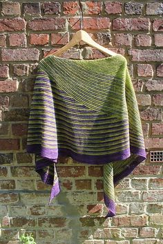 Color Affection shawl by Veera Välimäki   malabrigo Sock in Lettuce, Turner and Violeta Africana