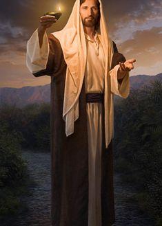Images Du Christ, Pictures Of Jesus Christ, Jesus Pictures With Quotes, Lds Pictures, Canvas Pictures, Croix Christ, Lead Kindly Light, Christus Pantokrator, Arte Lds