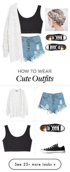 """""""New Years Eve and Day Outfit"""" by arianaforever14 on Polyvore featuring WithChic, Violeta by Mango and Converse"""