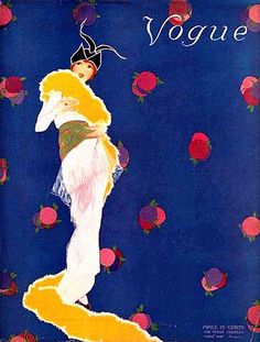 Vogue Deco Front Cover--Flowery