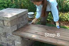 How to Build a Garden Bench DIY Garden Yard Art When growing your own lawn yard art, recycled and up Garden Fire Pit, Fire Pit Backyard, Backyard Patio, Pergola Patio, Gazebo With Fire Pit, Deck With Pergola, Pergola Screens, Backyard Projects, Outdoor Projects