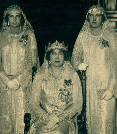Queen Ena and her daughters, the Infantas Beatriz and María Cristina