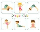 Illustrations de techniques de yoga pour enfants.