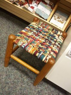coser el asiento. Seat weaving with fabric...