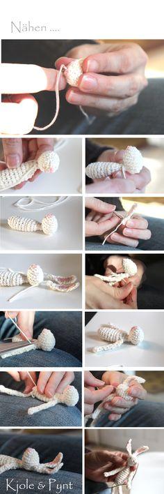seidenfein 's Dekoblog: mach' Dir einen Frühlings - Hasen * My little hop hop crochet - Rabbit ! DIY