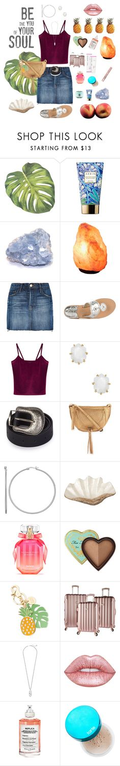"""""""Michigan Trip!!!"""" by mledoll ❤ liked on Polyvore featuring AERIN, L'Oréal Paris, Frame, Jack Rogers, WithChic, Kendra Scott, Topshop, Kooba, Pearl Dragon and Victoria's Secret"""