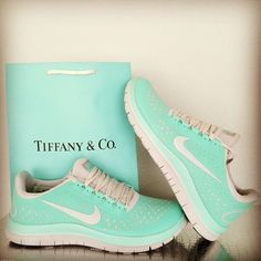 Love this Color! Women's Free 3.0 V5 Running Shoes #Tiffany #Blue #Nike #Running #Shoes