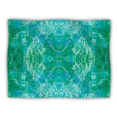 Kess InHouse Nikposium 'Eden' Teal Green Dog Blanket, 40 by 30-Inch *** Special dog product just for you. See it now! : Pet dog bedding