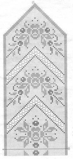 Knitting Mittens Chart Tapestry Crochet Ideas For 2019 Filet Crochet Charts, Crochet Motifs, Crochet Cross, Knitting Charts, Thread Crochet, Crochet Doilies, Crochet Lace, Knitting Patterns, Crochet Patterns