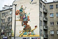 Warszawa mural Pomorza Zachodniego