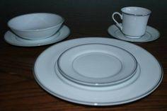 Simplicity Fine China with White Platinum - $40