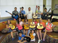The Children's Music Foundation donated guitars and lessons to our excited kiddos this July!