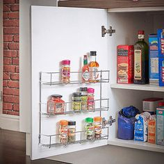 Spice Rack For Wall, Kitchen, Door Cupboard Storage 2-6 Tier Jar Herb Holder