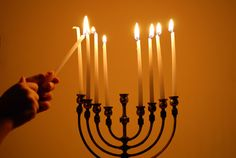 HANUKKAH TRADITIONS: Lighting the Menorah: Each night of Hanukkah, one of eight candles on the menorah is lit from left to right while blessings are recited. Hanukkah Lights, Hanukkah Candles, Hanukkah Menorah, Hannukah, Hanukkah Traditions, Hanukkah Celebration, Hanukkah Blessings, How To Celebrate Hanukkah, Lights