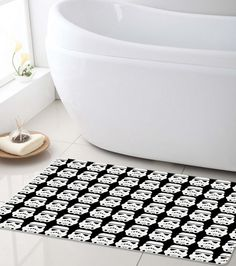 Star Wars Bath Mat! Stormtrooper Super soft Bathroom mat. Perfect for kids and Star wars lovers! You can customize it with a name! If you want to, just say the name you'd like to be printed on it in t