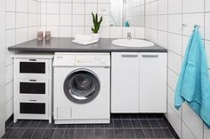 vaskemsk med benkeplate