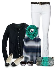"""black white and teal"" by torinmia ❤ liked on Polyvore featuring Vero Moda, J.Crew, H&M, Forever 21, Faliero Sarti, Marni and MadMacarena"