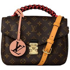 For Sale on - Louis Vuitton NEW 2018 LV Monogram Braided Pochette Metis Messenger/Crossbody Bag Made In: France Year of Production: 2018 Color: Brown, tan, red, black, Lv Pochette Metis, Louis Vuitton Crossbody Bag, Purple Leather, Lambskin Leather, Fashion Handbags, Bag Making, Louis Vuitton Monogram, Purses And Bags, 3 D