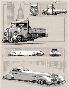 Cool dieselpunk artwork. I like the truck. Anti-gravity ... might be a neat project.