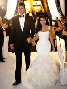 5 of the Most Expensive Wedding Dresses Ever:  4. Kim Kardashian's Three $ 25,000 (each) Vera Wang Gowns