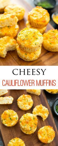 No carb diets 388787380326752069 - Cheesy Cauliflower Muffins. Low carb, gluten free and easy. No need to dry out the cauliflower! No Carb Recipes, Baby Food Recipes, Cooking Recipes, Healthy Recipes, Healthy Food, Protein Recipes, Easy Gluten Free Recipes, Carb Free Meals, Whole30 Recipes