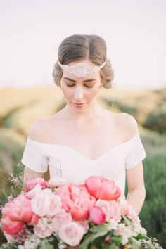 Glam bridal headpiece: http://www.stylemepretty.com/destination-weddings/2016/06/24/an-inspo-complete-with-an-off-the-rack-wedding-gown-you-need-to-own/ | Photography: Nastja Kovacec Photography - http://www.nastjakovacec.com/