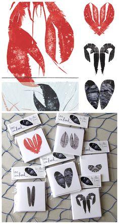 'Love Seafood' cards by Ellie Tzoni