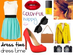 """""""a happy outfit:)"""" by marce0800 on Polyvore"""