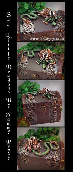 Sad Little Dragons By Tammy Pryce on Etsy $60- #dragons #polymerclay #homedecor…