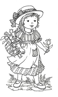Little World - Mama Mia - Picasa Web Albums Colouring Pics, Coloring Book Pages, Printable Coloring Pages, Coloring For Kids, Sarah Kay Imagenes, Holly Hobbie, Copics, Painting Patterns, Digital Stamps