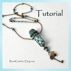 Tutorial for Beadwoven Poison/Keepsake/Perfume bottle pendant